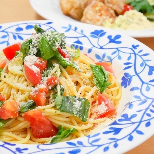 爽やかイタリアン*トマトとバジルの冷製パスタ