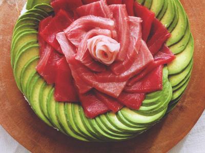 >Tuna avocado sushi cake by Higucciniさん