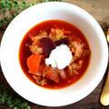 【簡単!スープ】業務スーパーのビーツde簡単!美味しい!ボルシチ風