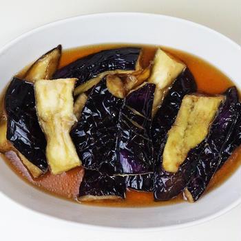 ヤマキの麺つゆで作る『とろけるナスの揚げ浸し』