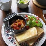 ストウブでミネストローネ ~ワンプレート朝食♪