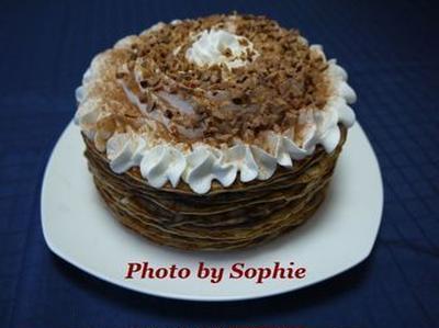 チョコレート・クレープケーキのレシピ