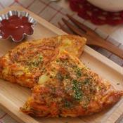 パセリとキャロットの彩りチーズオムレツ