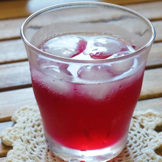 王隠堂さんの赤紫蘇で♪手作り紫蘇ジュース