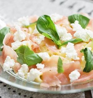 【パスタ】レモン・バジル・生ハム・カッテージチーズのオレキエッテのレシピ