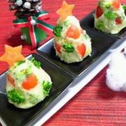 ★ノンオイルレシピ★クリスマスパーティーに♪豆乳ポテトサラダツリー★