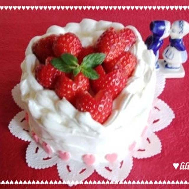バレンタインに?ハートフルショートケーキ?