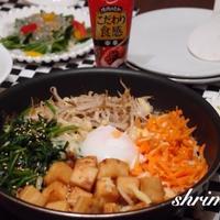 焼肉のたれで高野豆腐ビビンバ♡