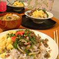 三色そぼろ丼と沢煮椀。 by いっちゃん♪さん