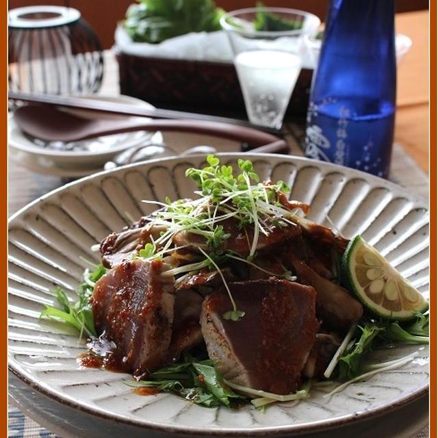 鰹と舞茸のピリ辛サラダ【スパークリング清酒「澪」】
