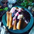 旬のブルーベリーレシピ色々~❤️と、ふんわり軽い薄焼きパンケーキ~クイックブルーベリーソース~