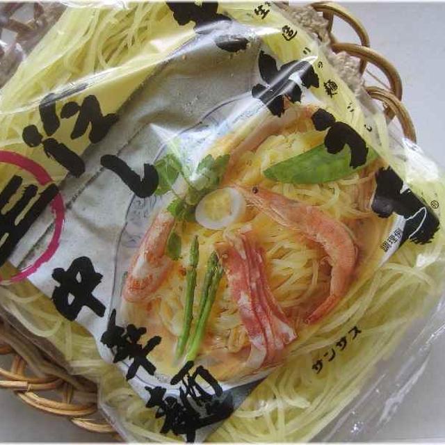 ♪大好きなきねうち麺で蒸し鶏とトマトの洋風冷やし中華♪