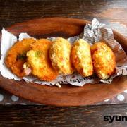 【簡単!!カフェごはん】豆腐コロッケ*ハムチーズ枝豆入り