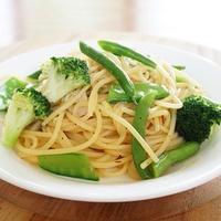 簡単!!緑の野菜で和風ペペロンチーノ