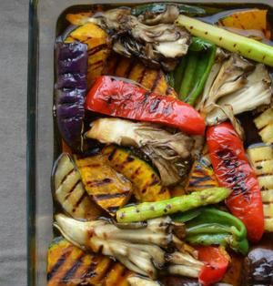 つくレポお礼♪とストウブスクエアグリルで「麺つゆで夏野菜の簡単焼き浸し」オールフリーモニター