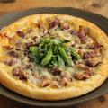 【簡単おつまみ】ほたるいかと菜の花のピザと焼ほたる