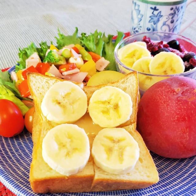 2021/7/22*バナナハニーバタートースト♡*