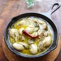【スキレット】アツアツを食卓に♪牡蠣のアヒージョ