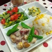 鶏+ッジョンソンヴィル+栗のクリーム煮