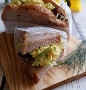 絶品♪手作りタルタルソースdeさんまの蒲焼サンドイッチ
