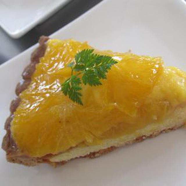 フルーツブランデーで絶品オレンジタルト