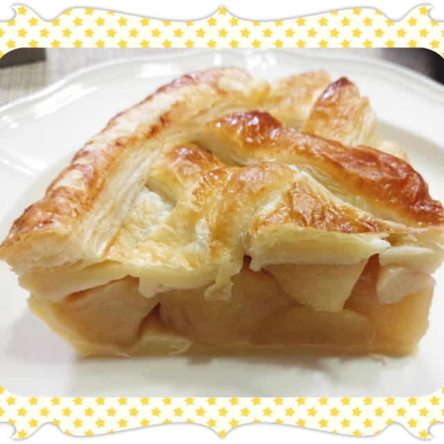 冷凍パイシートで作る、リンゴたっぷり丸型アップルパイ(レシピ付)