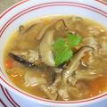 365日汁物レシピNo.195「干し椎茸と豚肉のサンラータン」