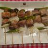レモン味でさっぱりと☆夏野菜と豚バラの串焼き