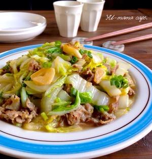 白菜と豚肉のガーリックバター炒め〜お菓子作り〜