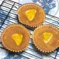 オレンジとバナナのカップケーキ