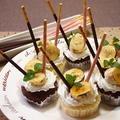 簡単♡炙りバナナ×ポッキーのミニ蒸しパンケーキ@忙しい時のパーティーレシピ by とまとママさん