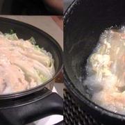 もみじおろしで食べると美味しい~♪白菜と豚バラのミルフィーユ豆乳鍋♡