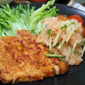 キムチのタレで☆豚おろしステーキ