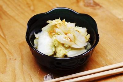 ひとクセありな白菜の簡単ツマミ