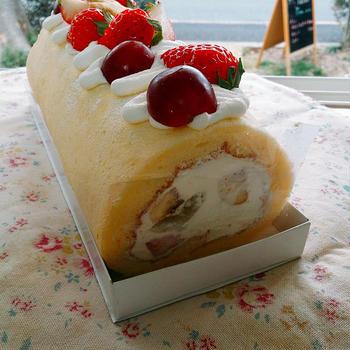 ロールケーキに、シフォン!