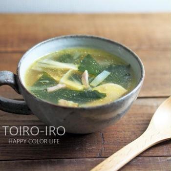 旬を味わう★たけのことわかめのコンソメスープ