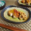 鶏胸肉で柚子風味の和風ローストチキンとわさび菜・舞茸のわさび入り白和え by strawberry-macaronさん