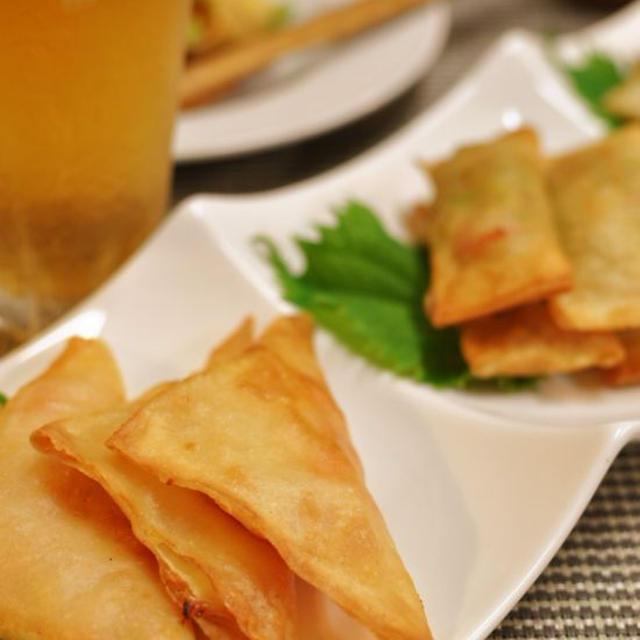 トルティーヤ風春巻きと韓国冷麺の晩御飯