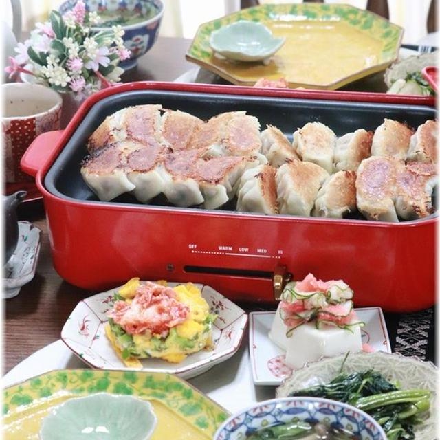 【レシピ】ニラ味噌餃子。と 献立。と 今年の梅仕事。