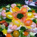 雪の結晶のつもり クリスマス寿司 by ヨアンさん