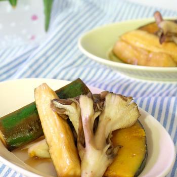 切って・焼いて・漬けるだけ♪ズッキーニと夏野菜の和風ピクルス