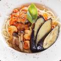 生しょうゆ糀のコクあり鯖トマパスタ