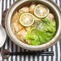 レタス&鶏つみれのカボス鍋
