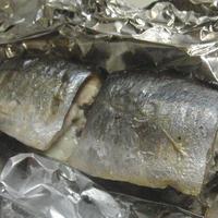 ♡秋刀魚のシソチーズ包み焼き♡