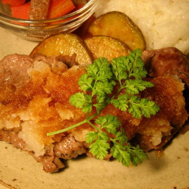 牛肉ステーキのおろし照り焼きソース