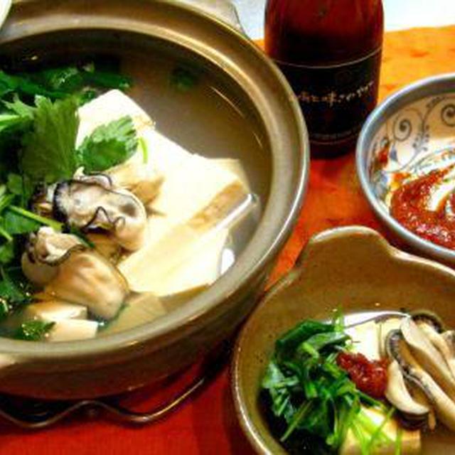 カキの湯豆腐