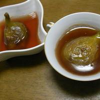 イチジクの紅茶ワイン煮ゼリー
