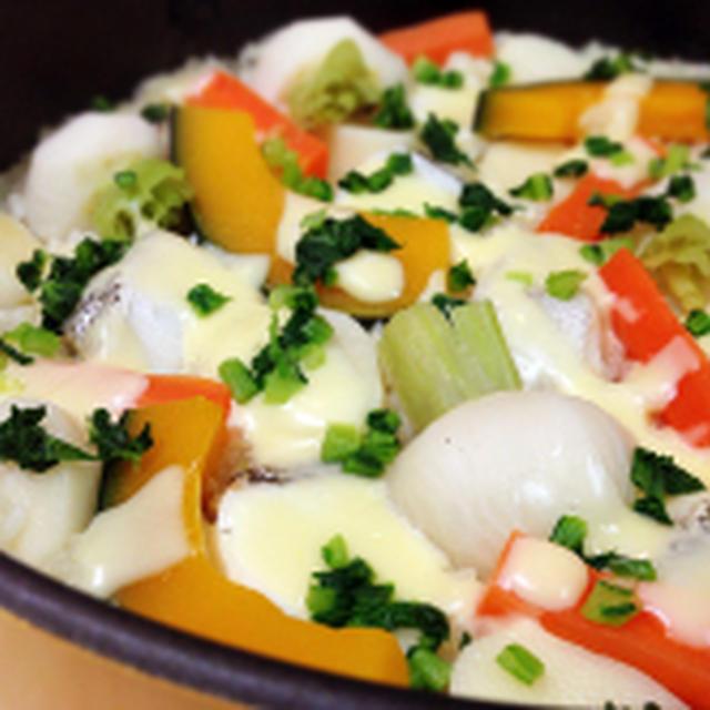 タラと根菜の冬パエリア