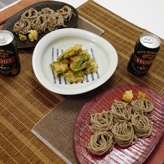 ★ ニンニク麺つゆで蕎麦&とり天