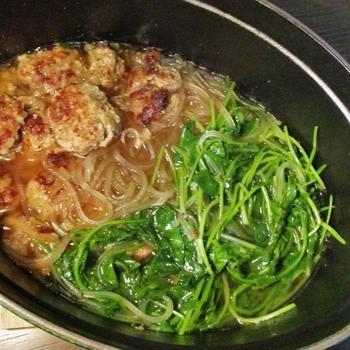 肉団子とクレソンのスープ煮